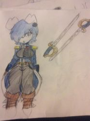 Lilith officer uniform version 2 colored by shimmerthecat115