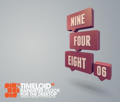 Timeloid : Rainmeter Word Clock by Pikzeloid