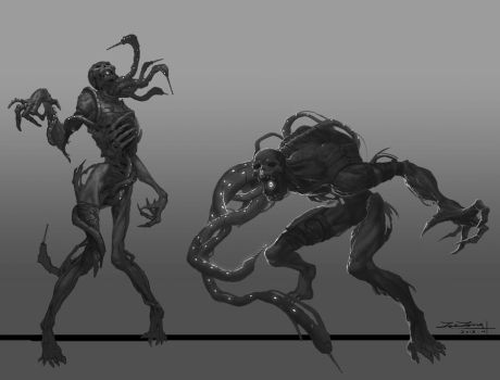 Zombie Bw by shuzong
