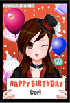 remake twin birthday card by cat55