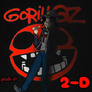 2-D (Gorillaz) by Djcallen10