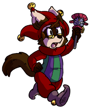 Commission - The Ferret Jester by FizTheAncient