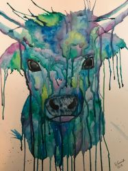 Watercolour Cow by velvetlace-x