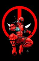 Deadpool Print Logo Version by thEbrEEze