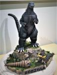 Max Factory Godzilla 92 Set with Custom Base by Legrandzilla