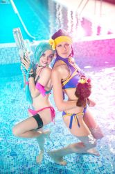 Pool Party Jinx, Quinn cosplay by YtkaMatilda