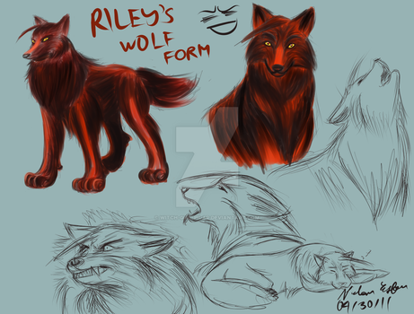 dAF: Riley's Wolf Form by witch-girl-pilar