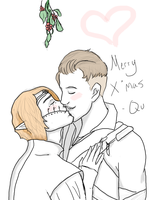 Under the mistletoe by Qu-Ross