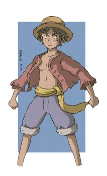 Luffy from One Piece fan art by Carlos-MP