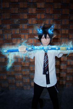 Ao no Exorcist by SolaArt