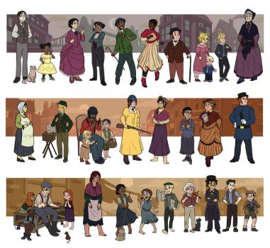 Victorian Lineup Redux by JesnCin