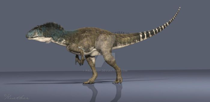 Feathered Allosaurus by PaleoGuy