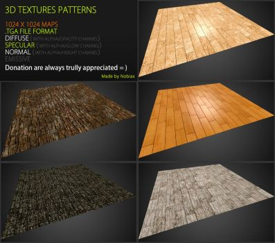 Free 3D textures pack 44 by Yughues