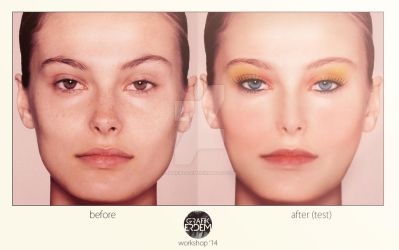 Before-after Makeup by Grafikerdem