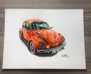 Volkswagen 1303 VW Klasik - Watercolor by vexilloid
