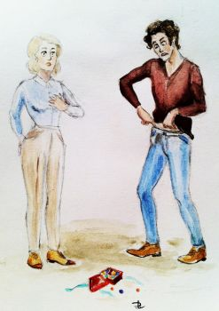 Scorpius Malfoy and OFC genderswitch/genderbend by Donna-Liateros