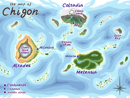 Bub-Chi species guide - Chigon world map by KetLike