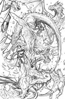 Dragons aka firedrakes by RyanStegman