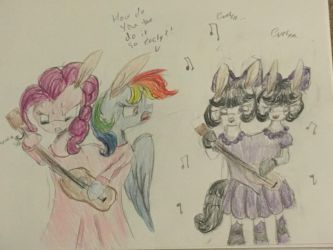 Rainbow and Pinkie Doing the Conjoined Challenge by RavenLilly2004