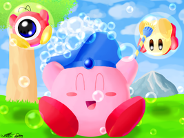 Bubble Kirby by Lilsnookie