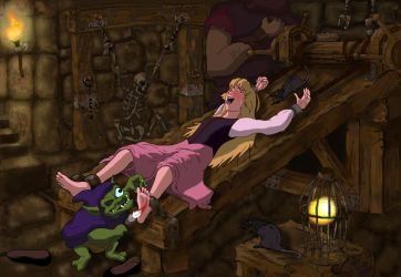 Princess Eilonwy Tickled in the Dungeon by sp0rel0rd
