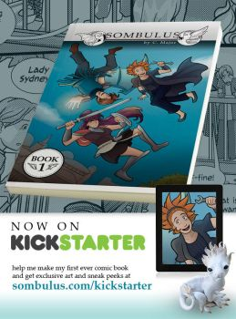 Sombulus Book 1 Kickstarter is GO! by TheDelphina