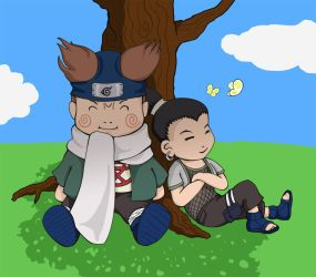 Naruto fanart: Lazy Days by sweetvillain