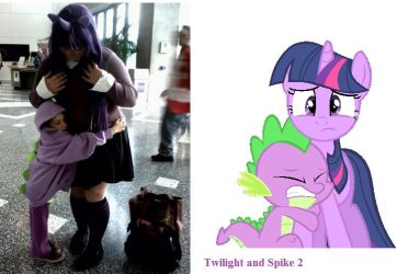 Twilight Sparkle and Spike Two by LuluuxDuplica1223