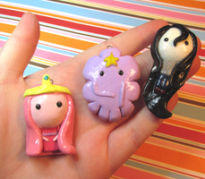 Adventure Time Charms by CrustCringle