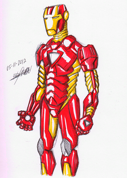 Iron man sketch by Raymon92