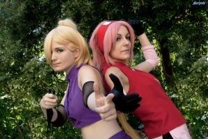 Bestfriends and rivals . Sakura and Ino by Rael-chan89