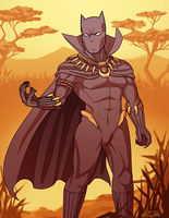 P - The Black Panther by Kaibuzetta
