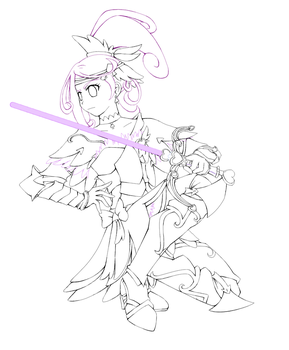 Valkyrie Cure Sword WIP by Aijihi