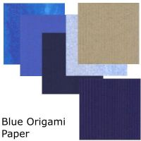Blue Mix Origami Paper by DIN1031
