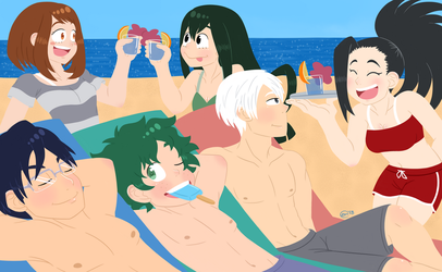 BNHA Beach Trip by PipedreamArtist