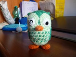 Green Owl by AngelTany