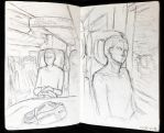 Sketchbook entry #16 Train sketches by fantasydreamtima