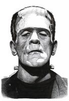 Karloff FRANKENSTEIN MONSTER Doug Hazlewood SOLD by DRHazlewood