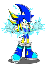 Jolt The Hedgehog (Electric) by Arung98