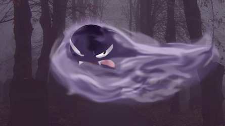 Awfully Gastly by batwing321