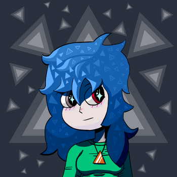 Bertha: The Girl with Blue Hair by PrRobo