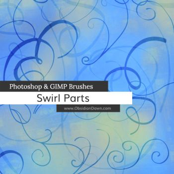 Swirl Parts Photoshop and GIMP Brushes by redheadstock