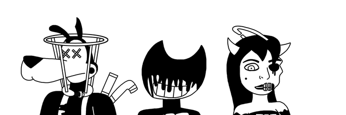 The Corrupted Trio from Bendy and the Ink Machine by MarcosPower1996