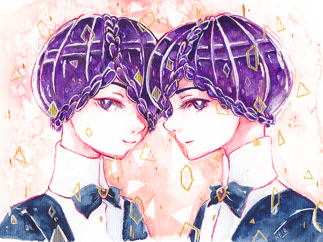 Watercolour 14.12.17 - Twins by N2Y88