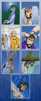 Stations of the Cross by Godsartist