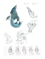 Water Scavenger Model Sheet by FlyingRam