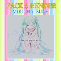 Pack 5 Render Miku Hatsune by FlowEditions