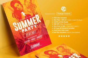 Summer Party   Psd Flyer Template by RomeCreation