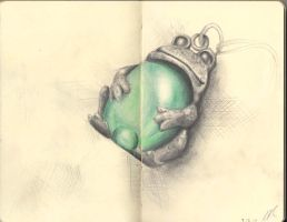 Moleskine Page 10 - Frog Pendant by otohime0394