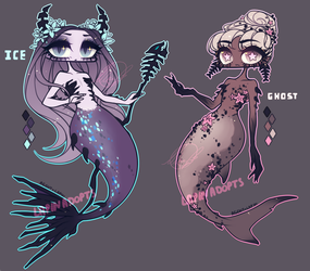 [ADOPTABLE] MERMAID by agent-lapin